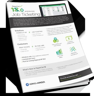 Download PaperCut Job Ticketing Brochure